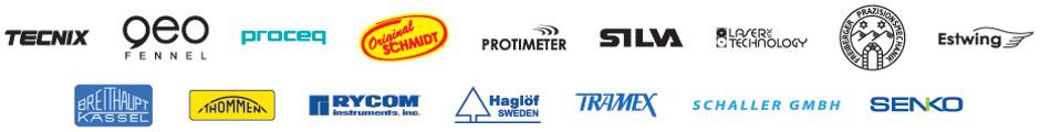 Haglof, Allemano, Nedo-D, Tecnix, Estwing, Protimeter, Breithaupt-D, Fpm Freiberger, Wilkie, Revue Thommen-Ch, Haff, Rycom, Fpm, Haglof-S , Laser Technology, Kds, Preisser, Senko, Schaller, Proceq, Silva, Ker , Trotec, Silva-S, Controls, Tramex
